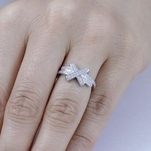 Stamped 925 Sterling Silver Infinity Ring
